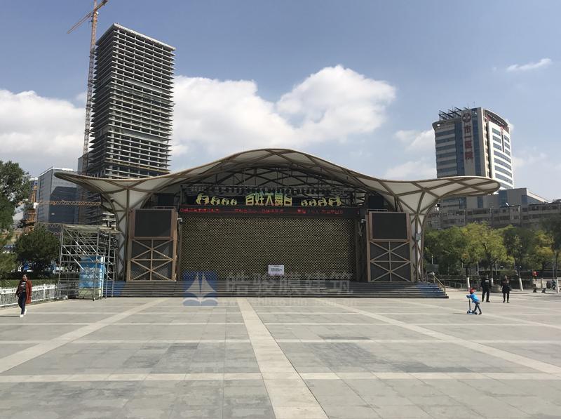 西宁市中心广场舞台膜结构