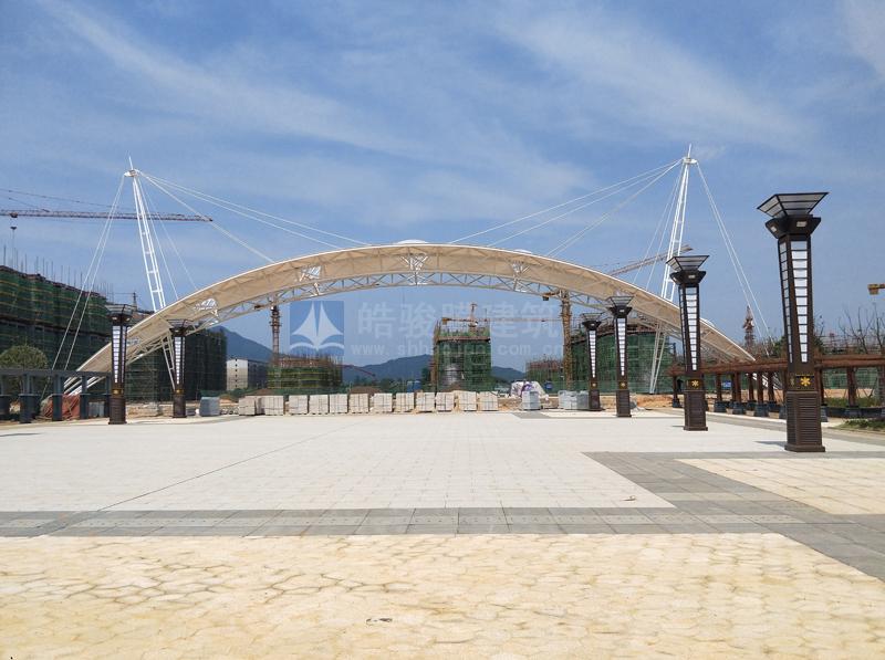 峡江县城市广场张拉膜结构